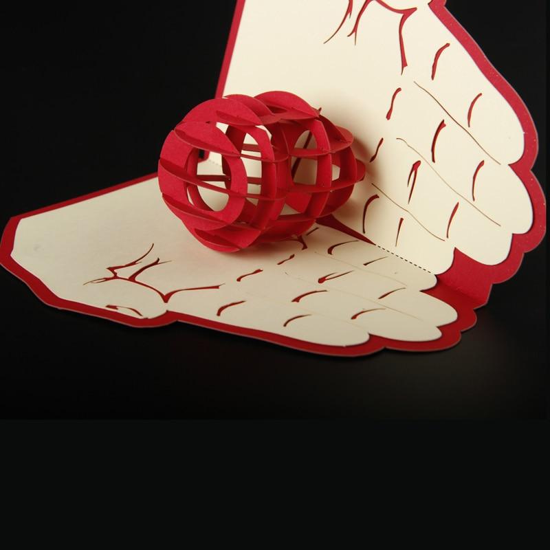 Envío gratis 3D Pop Up tarjeta de felicitación de papel tallado - Para fiestas y celebraciones - foto 3