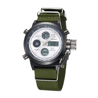 top Fashion 2018 Gemius Army Racing Force Military Sport Mens Fabric Band Watch New Luxury High Quality Clock Retro Design