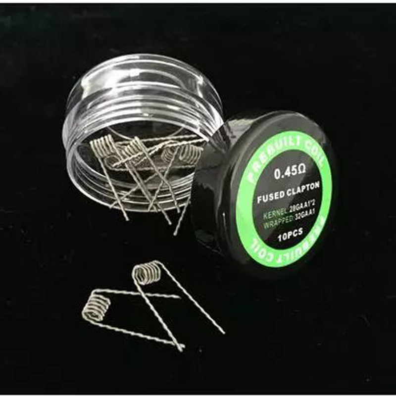 Nigel 10 pcs Coil Wire Coiling Prebuilt Coil Twisted Clapton Alien Hive Quad Fused Claoton For DIY RDA RBA RTA RDTA Atomizer