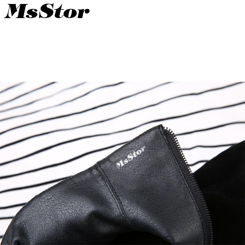 Éclair Femme Pour Boot À Black 2018 short Rond Femmes Talons Plush Carré Talon La Leather Bottes Bout Bas Cheville Mode Fermeture Msstor Chaussures Black Fille 6x4HwXq