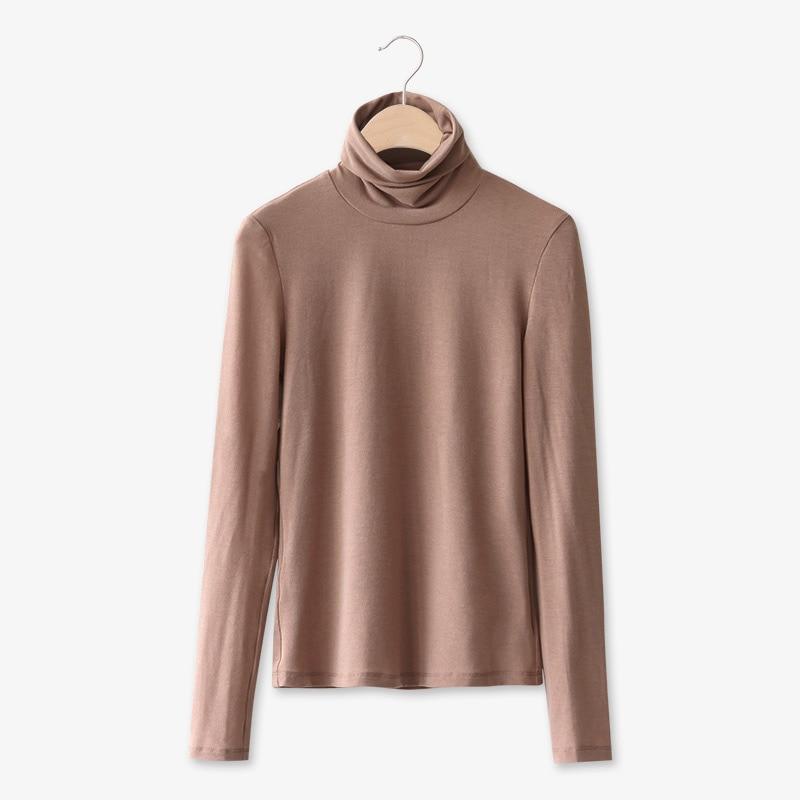 Women Autumn  Heaps Collar Elastic Slim Fit Long Sleeves Female Bottomwear Hoodies FS99