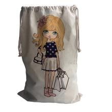 ФОТО Beautiful shopping Of GirlS torage Cotton Linen Bag Travel