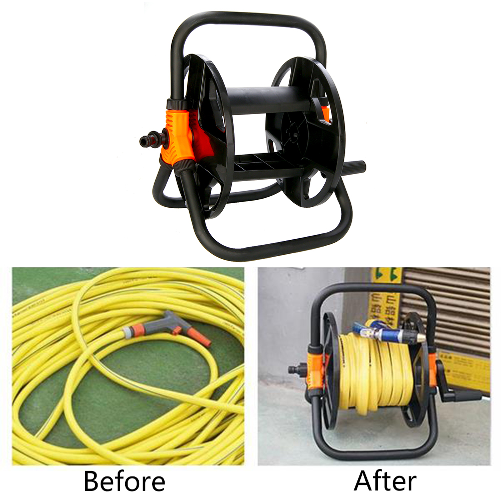 Garden Water Hose Reel before and after