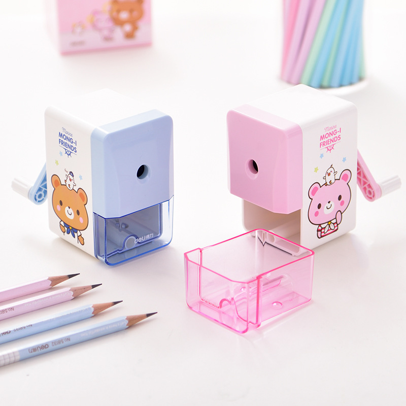 Kawaii Cartoon Bear Mechanical Pencil Sharpener For Kid Gift Creative Pen Knife Cute Office Stationery Student School Supplies