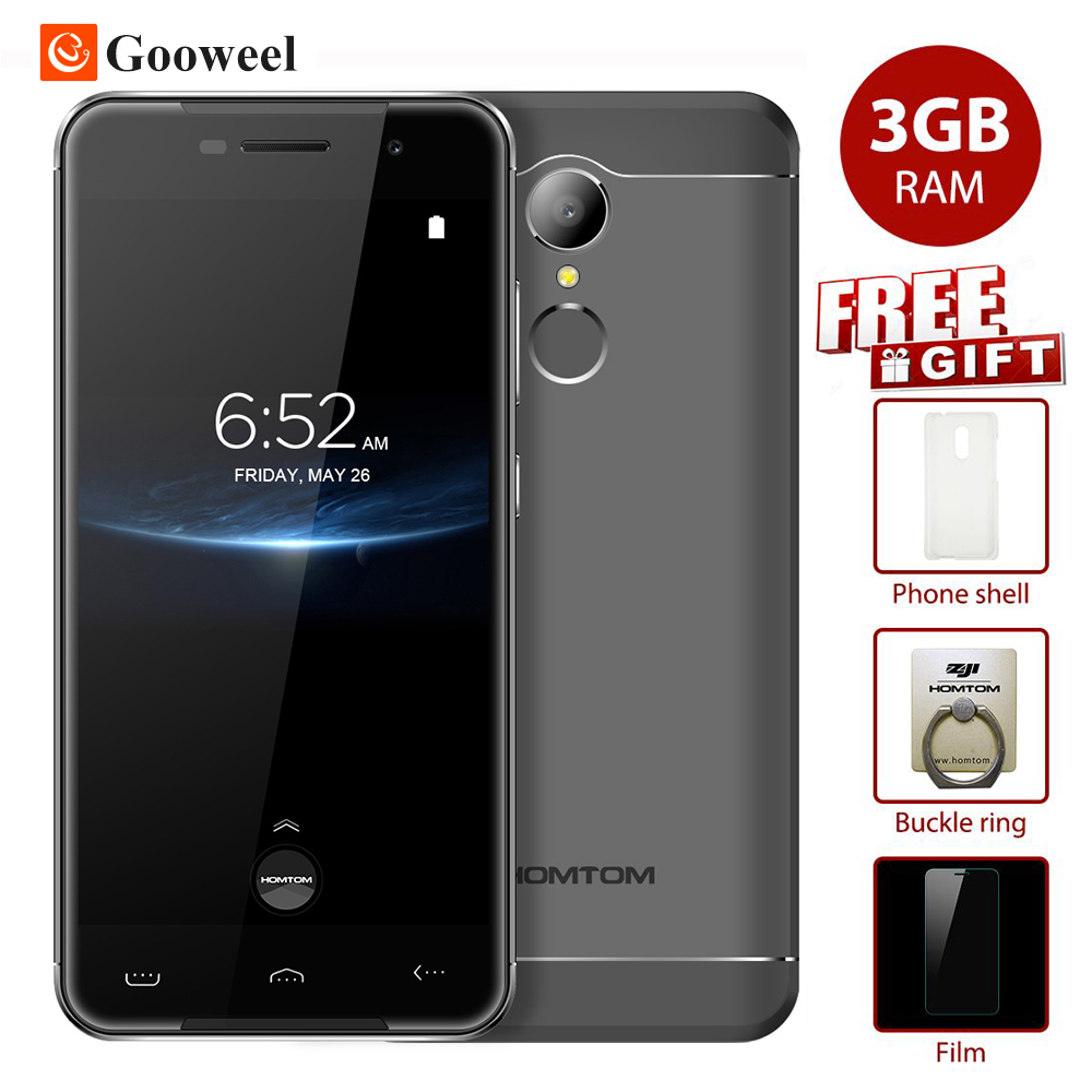 New HOMTOM HT37 Pro Mobile phone MTK6737 Quad Core 32GB ROM 3GB RAM 5.0 inch HD Fingerprint 13MP smartphone 3000mAh cell phone