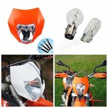 Papanda Arancione Faro Dirt Bike Motocross Testa Della Lampada Universale per KTM EXC EXCF XCF SXF XCW SX SMR 250 450