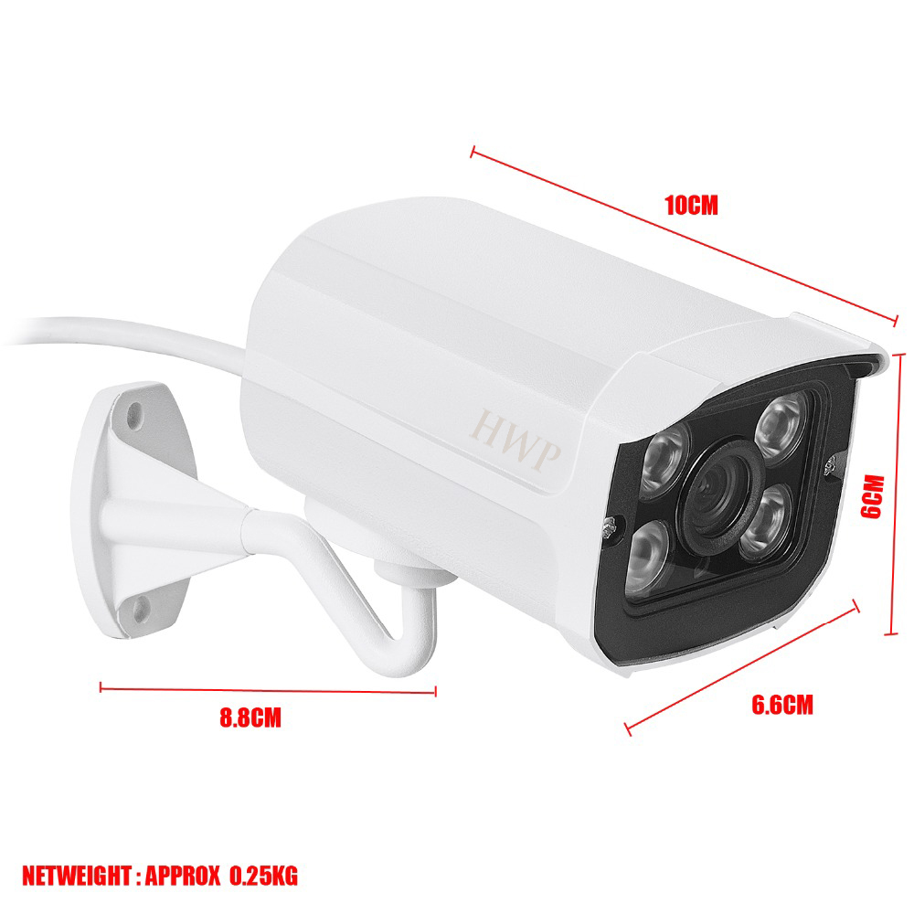 Waterproof Metal IP66 IP Camera Wifi Wired 720P1.0MP With SD Card Slot ONVIF Yoosee P2P Night Vision Surveillance Camera