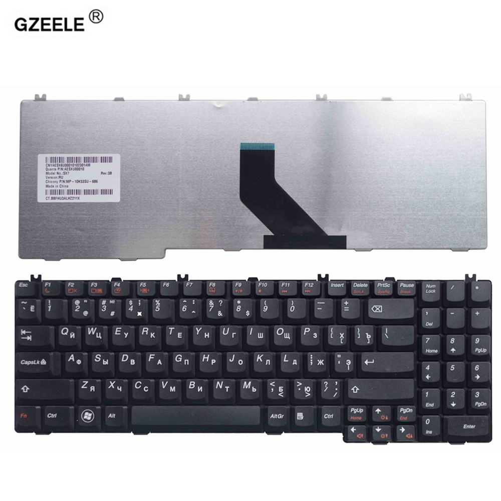 GZEELE New  RU Keyboard For Lenovo IdeaPad B550 B560 V560 G550 G550A G550M G550S G555 G555A G555AX Series Black Laptop 25-008405