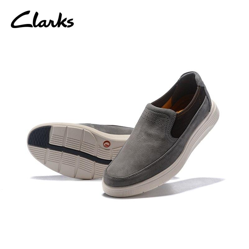 Slip En on Sneakers Plein Air Des Chaussures Qualité Basse Clarks Confortable Offre Aide Spéciale Plates Décontractées Gris Supérieure Marque Hommes Mode 54qAcjR3L