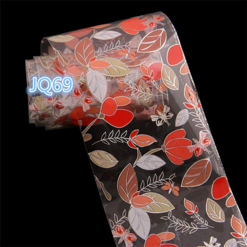 Intellective 2017 New Nail Art Stickers Professional Flower Design Foil Transfer Decal Tips Manicure Nails Tools Dropship X7265down Aromatic Character And Agreeable Taste Nail Art Nails Art & Tools