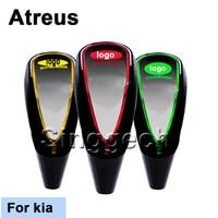 Atreus Car Styling Shift Gear Knob For kia Rio K2 Ceed Soul Cerato Sorento Sportage Touch Sensor LED Light Colourful 5/6 Speed