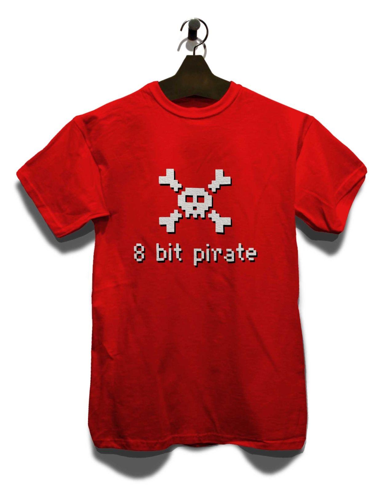 8 бит Пиратская футболка 8 бит Аркада Commodore Ретро C64 Amiga Oldschool 80er