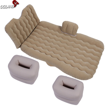 OGLAND New Design Lengthen Car Air Inflation Travel Bed Mattress for Universal Car Back Seat Support