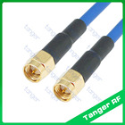 "SMA male to male plug straight connector with RG402 RG141 RG-402 Coaxial Jumper blue cable 8 inch 8"" 20cm RF Low Loss Coax"