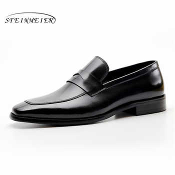 Mens formal shoes leather men dress oxford shoes for men dressing wedding business office shoes slip on male zapatos de hombre - DISCOUNT ITEM  49% OFF All Category