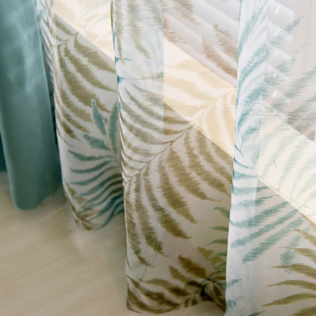 Online Shop Country style tende spesse tende verde blu patterned ...
