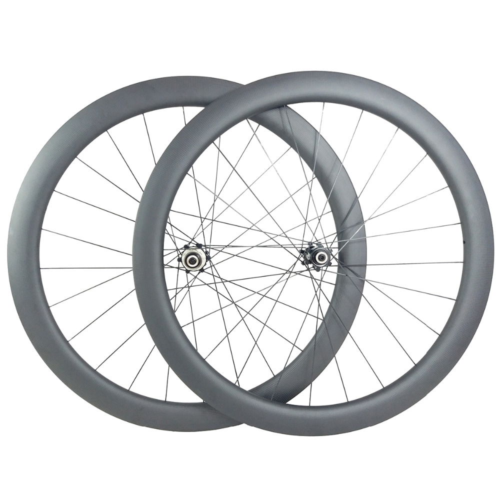50mm tubeless U shape road disc carbon wheels 25mm wide straight pull wheelset UD 3K 12K