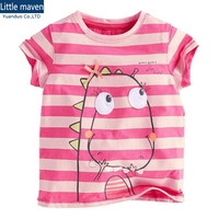 Kids Girls Tee Striped T Shirt Kids Stripe T Shirt Girls Summer Girls Short Sleeve Cotton