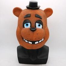 Vijf Nachten Op Freddy Masker Foxy Chica Freddy Beer Maskers Cadeau Voor Volwassenen Cosplay Halloween Party Latex Masker Kostuum props Grappige