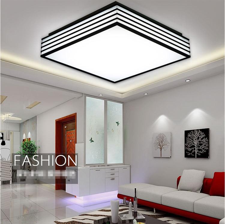 led de acrlico blanco y negro luces de techo cuadrados llev la luz de techo sala de estar dormitorio cocina iluminacin para el hogar en las luces del