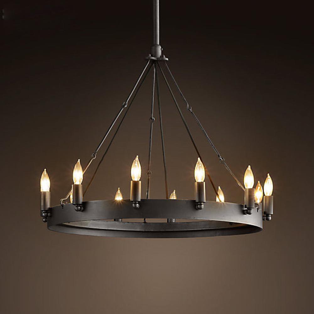 NooLim Top Garde Industrial Lamps Black Nordic Vintage Pendant Light ...