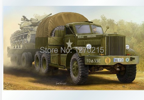 Plastic model kit 63501 1/35 scale U.S.M19 Tank Transporter with Hard Top Cab bronco model 1 35 scale military models cb35020 german land wasser schlepper lws limited edition plastic model kit
