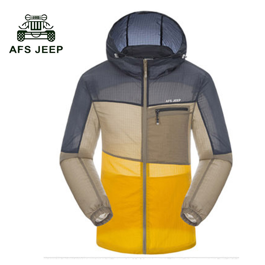 AFS JEEP 2017 New Couple Casual Jackets Waterproof Quick Dry Fashion Skin Clothing Long sleeve Sun Protective Lovers Jacket 90z