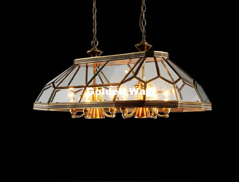 Free Shipping Nordic Vintage Gold Brass Lamp Copper Pendant Lamps Bedroom Restaurant Clear Glass Hanging Lamp Pendant Lights free shipping bronze pendant lamp antique brass hanging e27 indoor vintage copper glass hanging lamp ac110v 220v 100% guaranteed