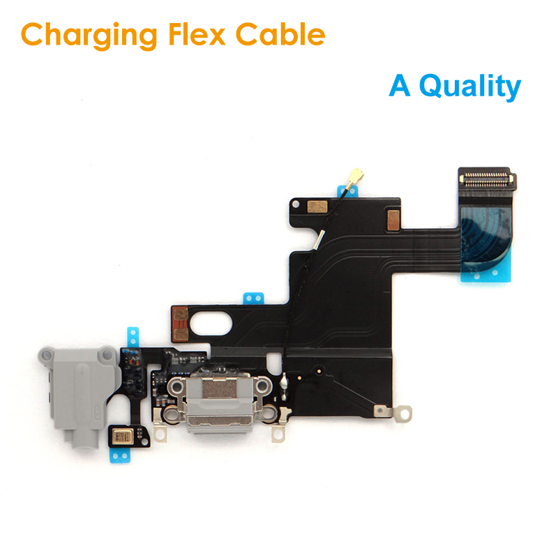 A Quality Replacement Charging Flex Cable for <font><b>iPhone</b></font> <font><b>6</b></font> 4.7 Headphone Jack USB Audio MIC Port Socket Dock <font><b>Connector</b></font> for iPhone6 image
