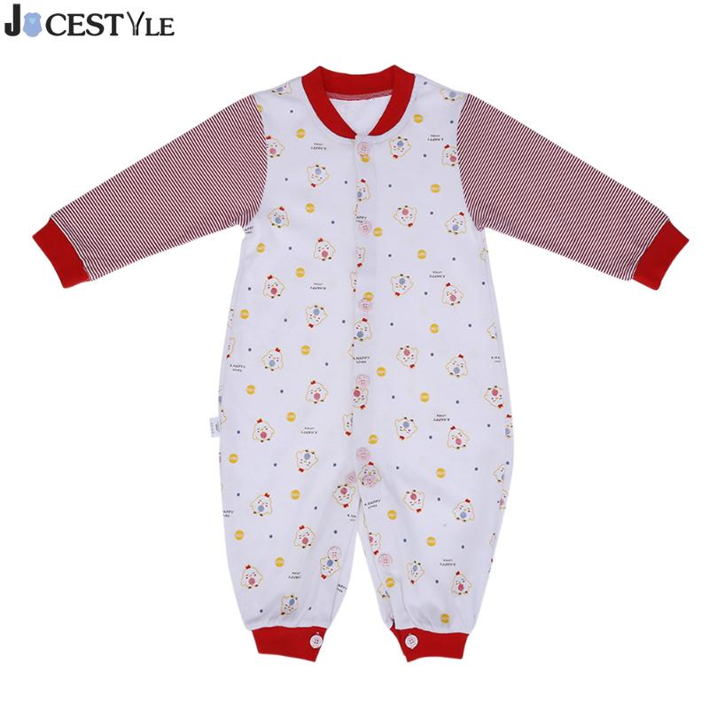 Newborn Infant Baby Girl Boy Clothes Cute Splicing-Stripes Romper Jumpsuit Playsuit Autumn Winter Warm Bebes Rompers Costumes