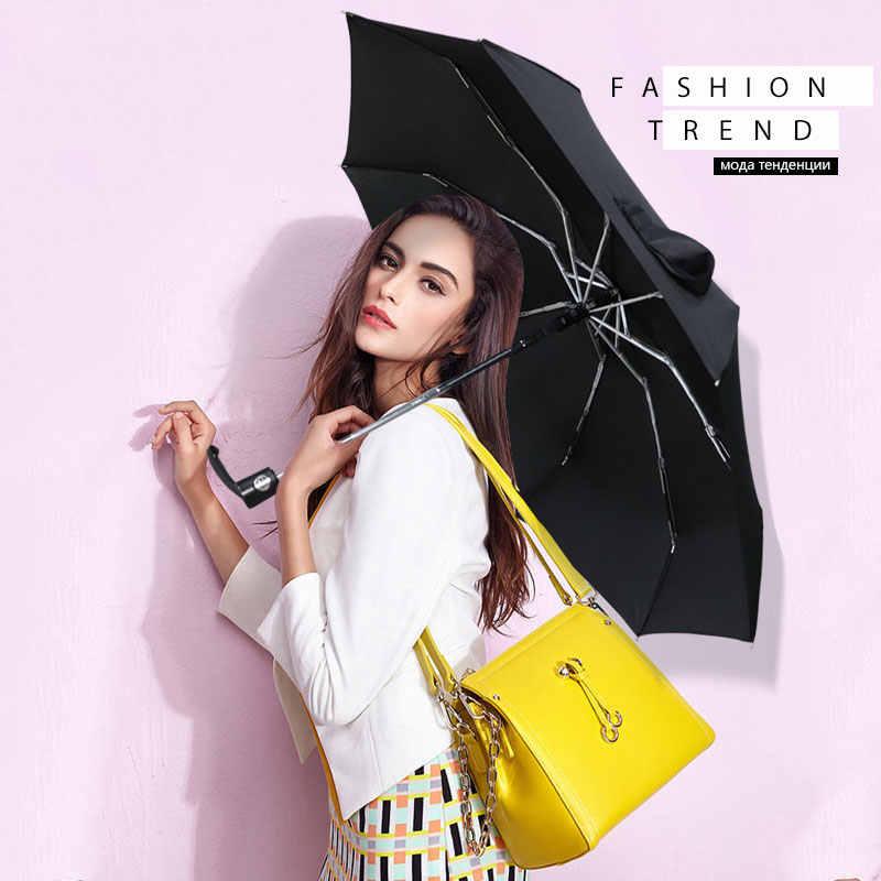 Полностью автоматический мини Карманный Зонт от дождя для женщин и мужчин, складной водонепроницаемый Зонт от дождя премиум-класса, маленький дорожный зонт для женщин и детей