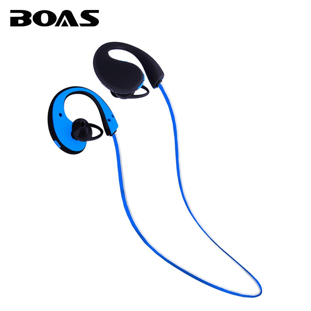 BOAS IP66 Waterproof Bluetooth Handsfree Earphone Wireless Sport Running Outdoor Headphones Headset with Mic for Xiaomi iPhone7 boas car driver bluetooth earphone wireless handsfree handphone base charger dock in ear hook headset with mic for iphone xiaomi