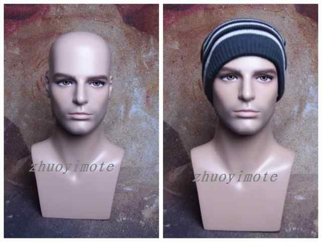 High quality Realistic Fiberglass Male Mannequin Dummy Head ,Manikin Heads For Hat Wig Headphones Display