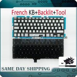 """OEM nowy dla Macbook Pro 13 """"A1278 FR francuski klawiatura francuski AZERTY układ + podświetlenie podświetlany + śruby 2009  2012 rok w Zamienne klawiatury od Komputer i biuro na"""