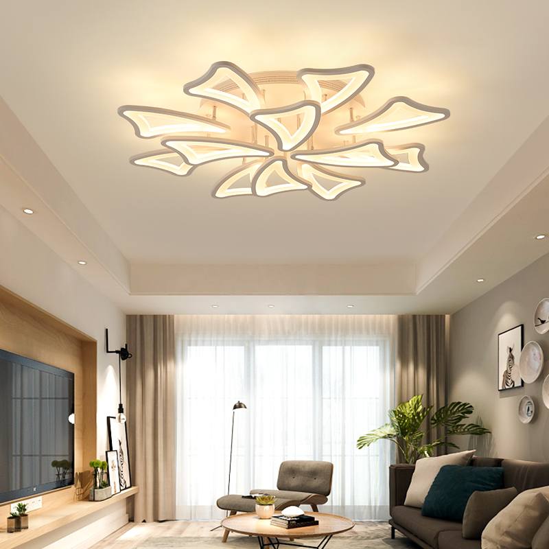 Ceiling Lights For Living Room Bedroom Home Dec Lighting lamparas de techo Modern Led Ceiling Lamp AC90-265V new designs new design modern led ceiling lights for living room bedroom white or black aluminum home ceiling lamp lamparas de techo