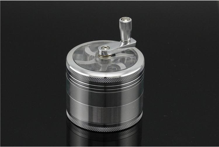 Tobacco grinder,Zinc Alloy Hand Grinding smoke herb, An indispensable tool for pipe men,4 Layers Weed Grinder
