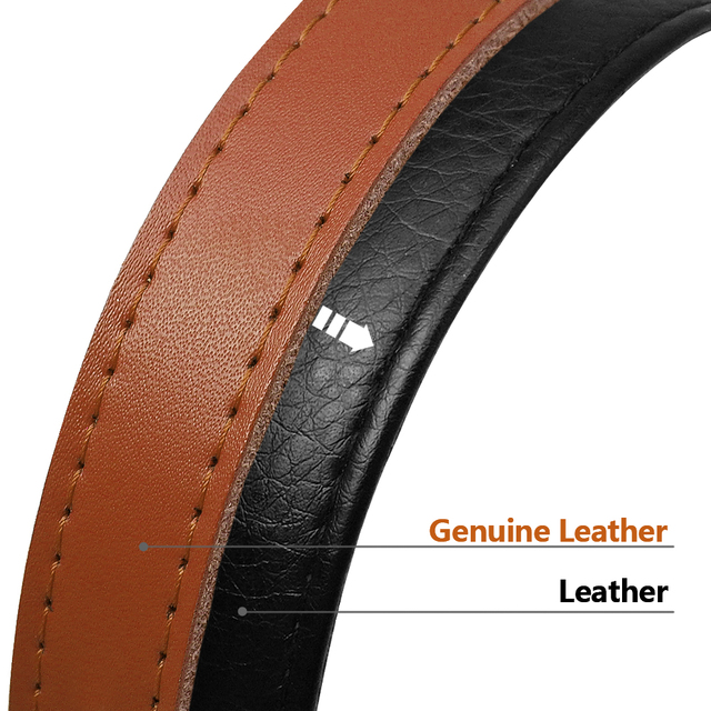 Genuine Leather Dog Collar Inner Padded Custom Personalized Dog Collars with Engraved Nameplate ID Tag For Small Medium Dogs 3
