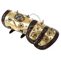 Steampunk Leather Arm Band Cuff with LED Light Vintage Costume Props