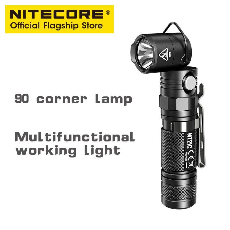Nitecore mt21c ультра яркий маленький прямой многофункциональный 90 градусов вращающийся яркий Магнитный всасывающий фонарик