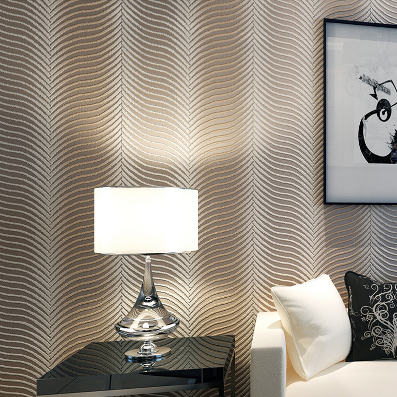 Geometry Non-woven Striped Wallpaper Modern Embossed Paper Bedroom Living Room TV Background Wallpaper Roll Papel De Parede 3D beibehang papel de parede 3d non woven wall paper roll embossed idyllic romantic bedroom living room tv background wallpaper
