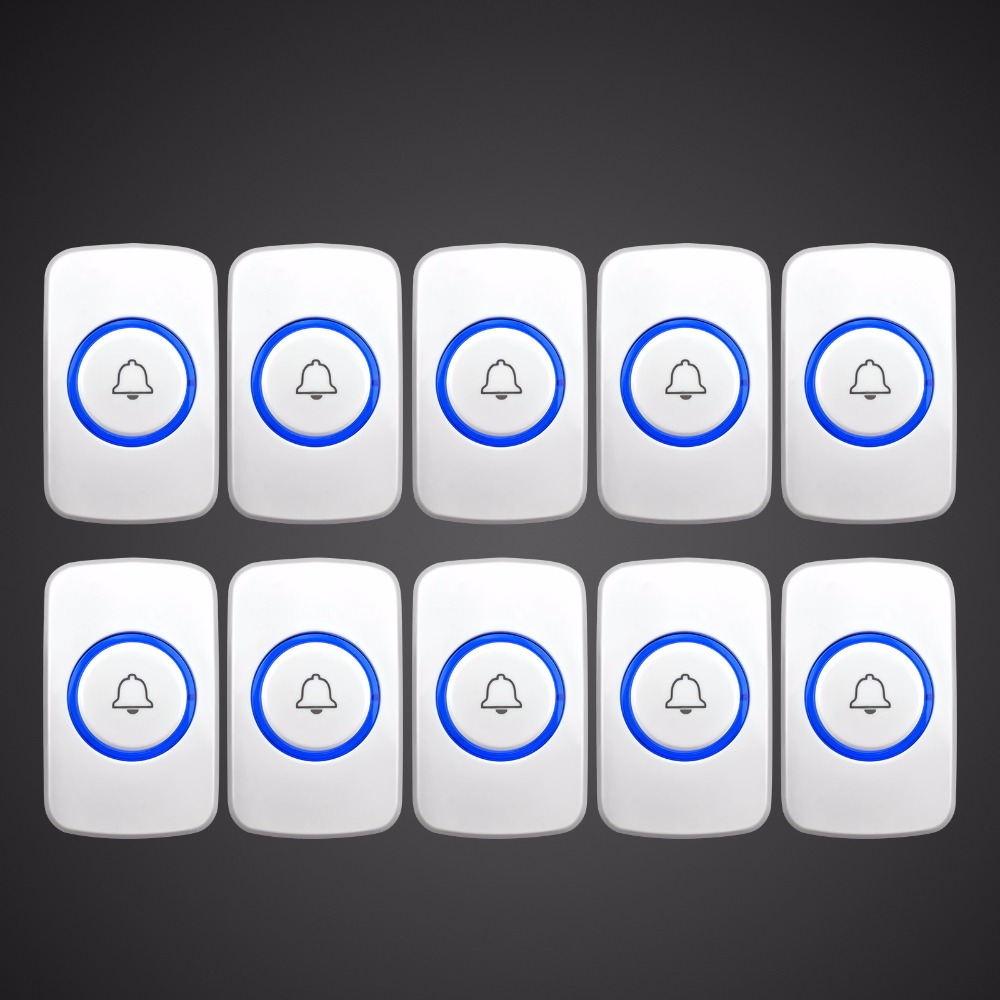 Kerui Wireless Panic Button Wireless Doorbell Emergency Button  For Home Alarm System Security Emergency Call Door Bell wireless service call bell system popular in restaurant ce passed 433 92mhz full equipment watch pager 1 watch 7 call button