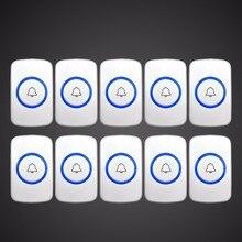 Kerui Беспроводной тревожная кнопка Беспроводной Дверные звонки Аварийная кнопка для сигнализации дома Системы безопасности вызова при аварийной ситуации дверной Звонок