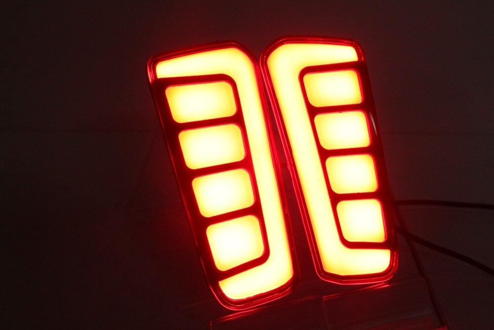 eOsuns led rear bumper light for for toyota vellfire 2016-2018, driving lamp + brake light 2 functions warning light sncn multi function led reflector lamp rear fog lamp rear bumper light brake light for toyota vellfire 2005 2014