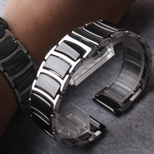 Quality 20mm 22mm stainless steel wrap ceramic Watchbands For Samsung Gear S3 Smart Watch Band Strap bracelets Black promotion цена в Москве и Питере