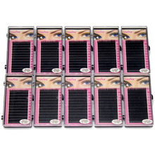 Navina Wholesale 10cases/Lot 0.15D Natural Silk Eyelashes Professional Soft Extension Individual Fake False Eye Lash for Makeup