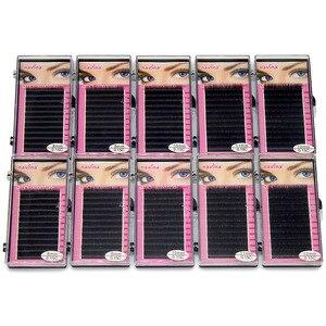 Image 1 - Navina faux cils professionnels en soie naturelle, doux, 0,15d, 10 étuis/Lot, accessoire de maquillage, vente en gros