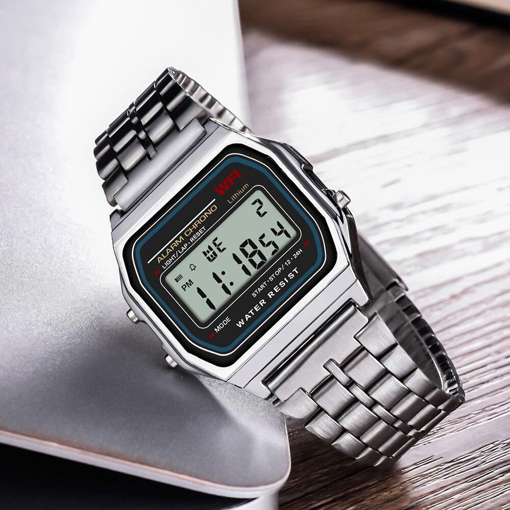 Digitale Uhren Synoke Männer Digitaluhren Led G Damen Uhr Vintage Quadratischen Schock Leben Wasserdicht Geschenk Für Männer Elektronische Gold Uhren Uhr Mit Traditionellen Methoden