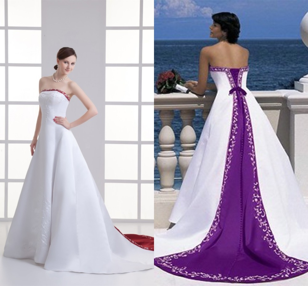 Wedding Purple And White Wedding Dress zoom top woman dress blog white wedding with purple accents robe de mariage and dresses red made in china satin lace up back