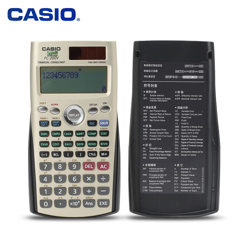 Casio FC 200V Financial Management Professional Examination Calculator Financial Computer Solar Energy CFA AFP Examination