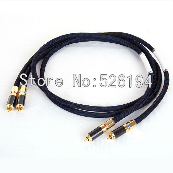 Free shipping Western Electric R-Copper RCA audio cable signal line/ interconnect cable with Carbon fiber RCA plug pair nordost valhalla gold silver alloy audio rca interconnect cable with carbon fiber rca plug